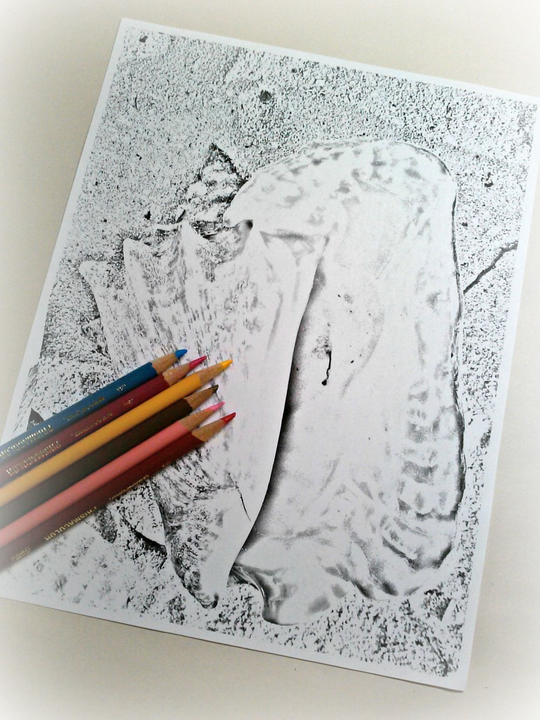 how to mod podge coloring pages